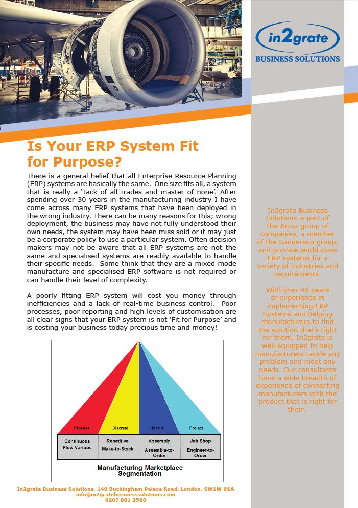 Find out if your ERP system is fit for purpose