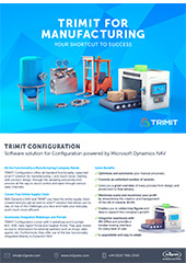 TRIMIT configuration: TRIMIT for manufacturing
