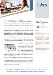 Infor XA solutions for manufacturing