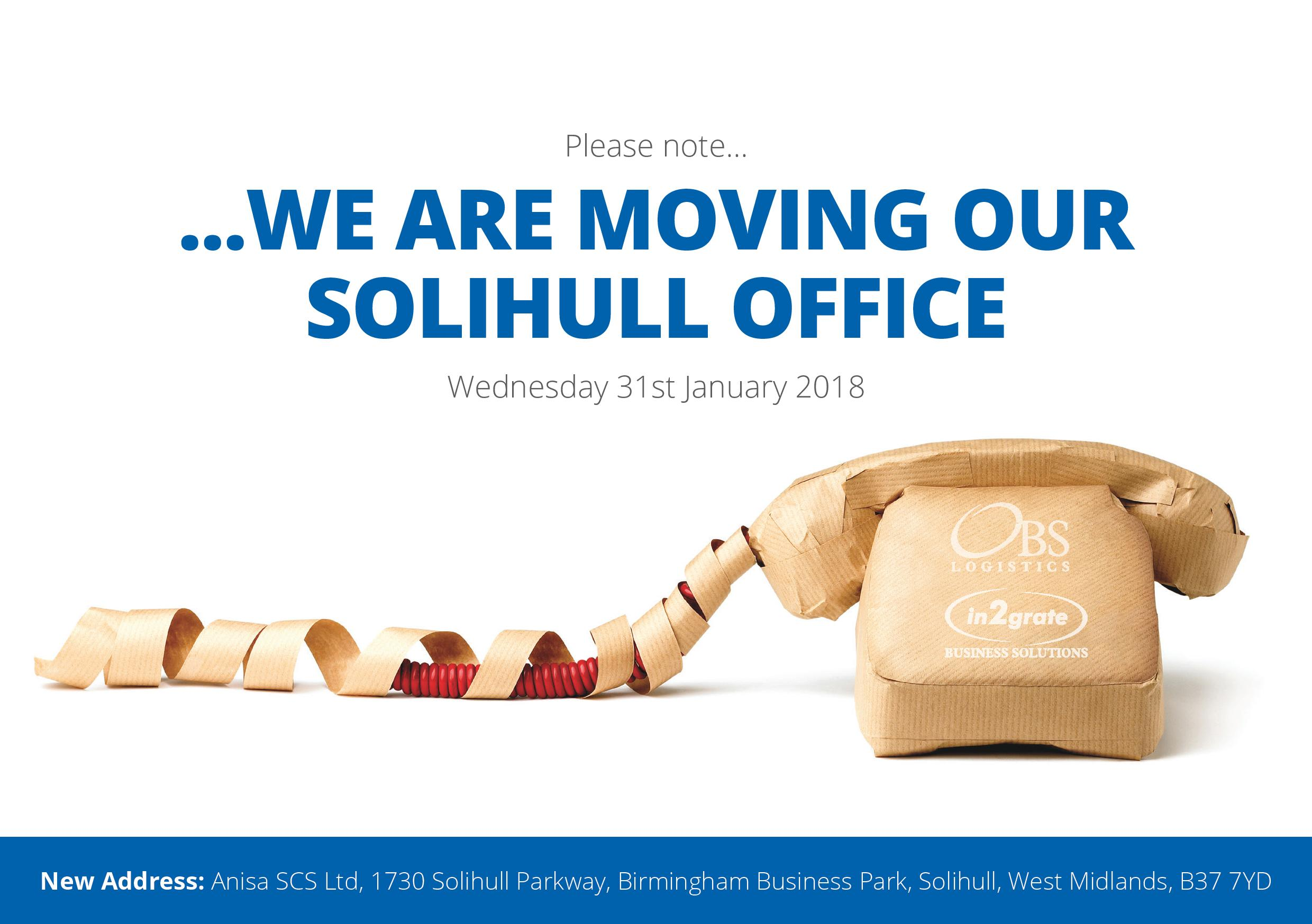 In2grate have Moved their Solihull office