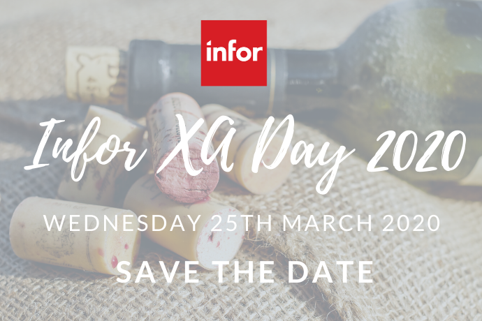 Calling all Infor XA Users: Save the Date for the Infor XA Day 2020